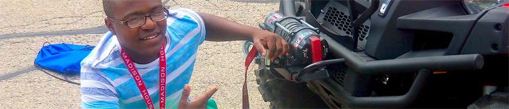 Mechanics of a four-wheeler: photo courtesy COE Communications